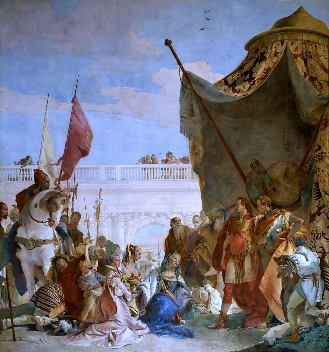 Alexander the Great and the family of Darius. Giovanni Battista Tiepolo