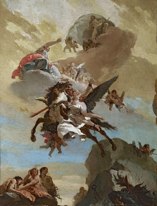 Perseus and Andromeda. Giovanni Battista Tiepolo
