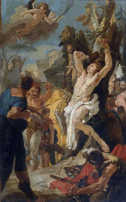 Martyrdom of St. Sebastian. Giovanni Battista Tiepolo (Workshop)