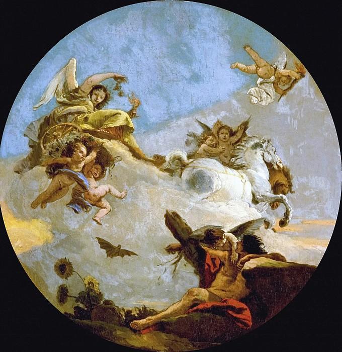 The Chariot of Aurora. Giovanni Battista Tiepolo