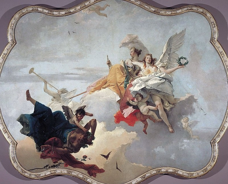 The Triumph of Virtue and Nobility Over Ignorance. Giovanni Battista Tiepolo