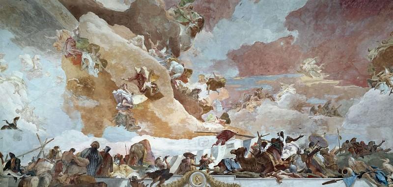 Apollo and the Continents, detail - Africa. Giovanni Battista Tiepolo