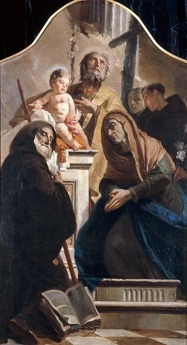 Saint Joseph with the boy Jesus and Saints. Giovanni Battista Tiepolo