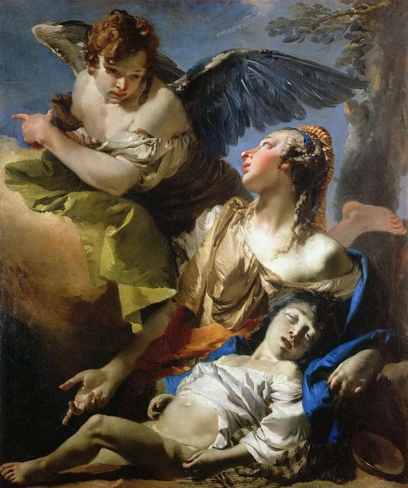 The Angel Succouring Hagar. Giovanni Battista Tiepolo
