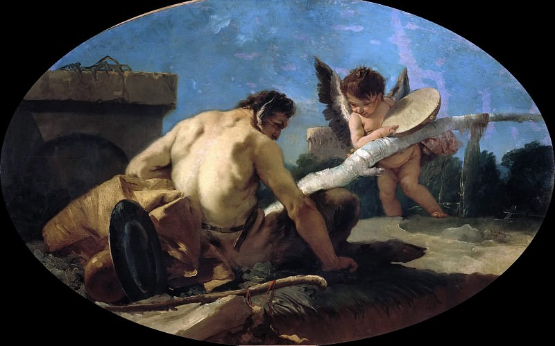 Satyr and Cupid