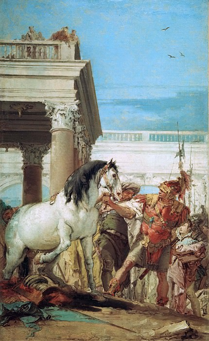 Alexander and Bucephalus. Giovanni Battista Tiepolo