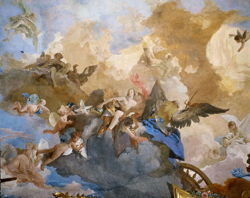Колесница Аполлона (фрагмент). Джованни Баттиста Тьеполо