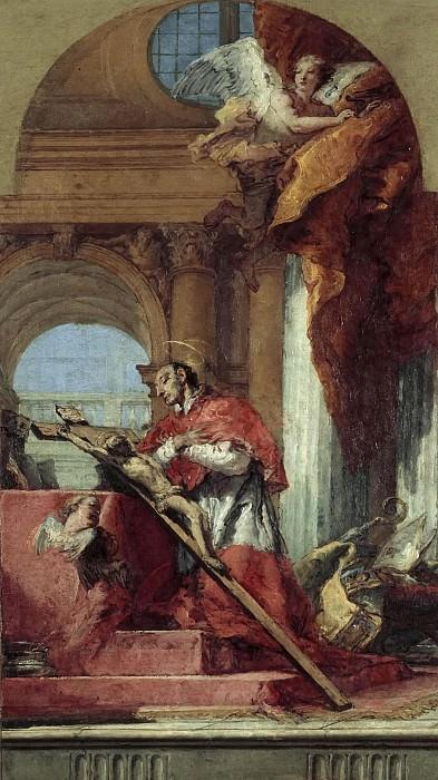 Святой Карло Борромео, молящийся у распятия. Джованни Баттиста Тьеполо