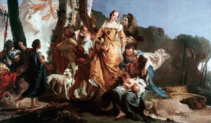 The discovery of Moses. Giovanni Battista Tiepolo
