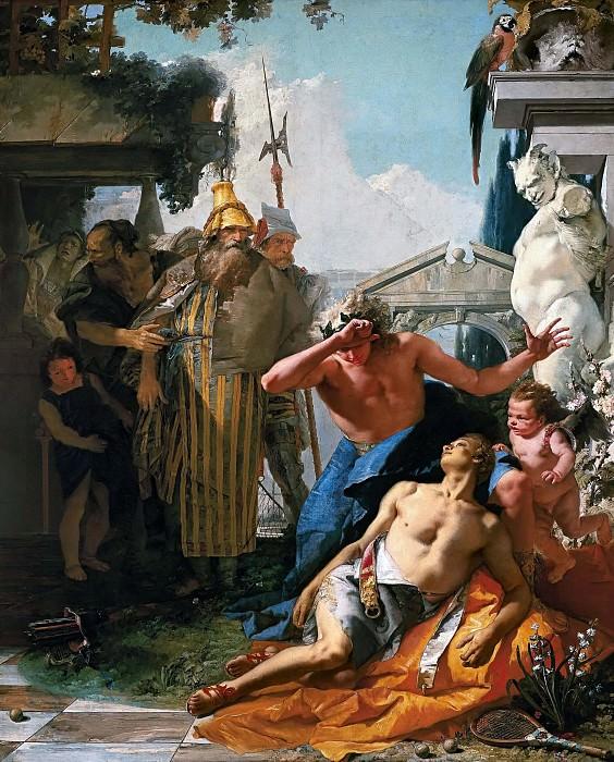 The Death of Hyacinth. Giovanni Battista Tiepolo