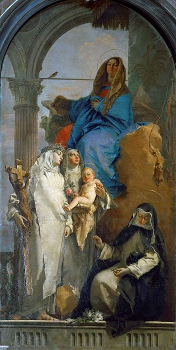 The Virgin Appearing to Dominican Saints. Giovanni Battista Tiepolo