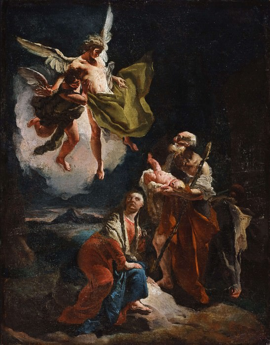 The Rest on the Flight into Egypt. Giovanni Battista Tiepolo