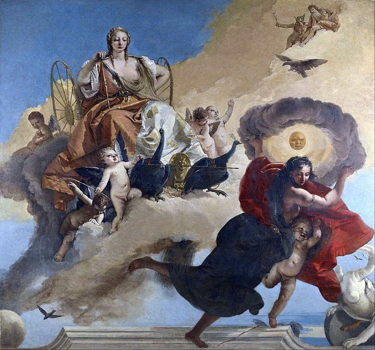Juno and Luna. Giovanni Battista Tiepolo