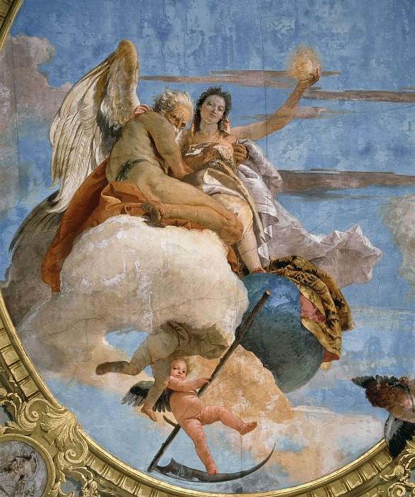 Time unveils Truth. Giovanni Battista Tiepolo