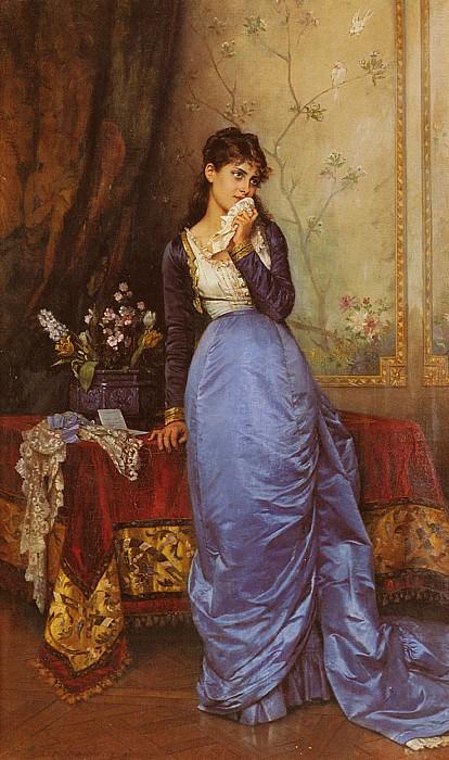 Toulmouche Auguste The Letter. Auguste Toulmouche