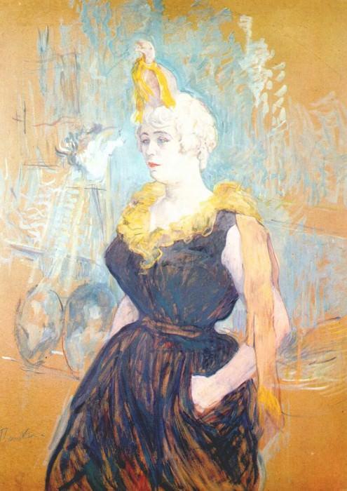 lautrec the clownesse cha-u-kao 1895. Henri De Toulouse-Lautrec