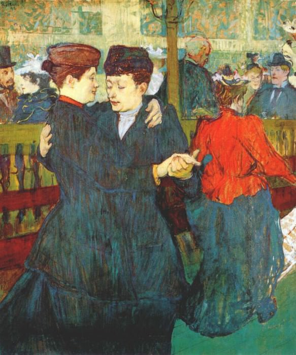 lautrec at the moulin rouge two women waltzing 1892. Henri De Toulouse-Lautrec