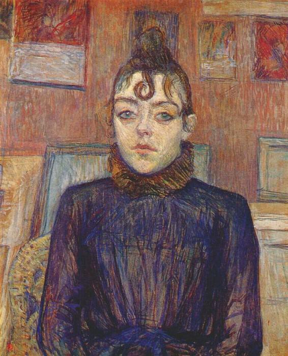 lautrec girl with lovelock 1889. Henri De Toulouse-Lautrec