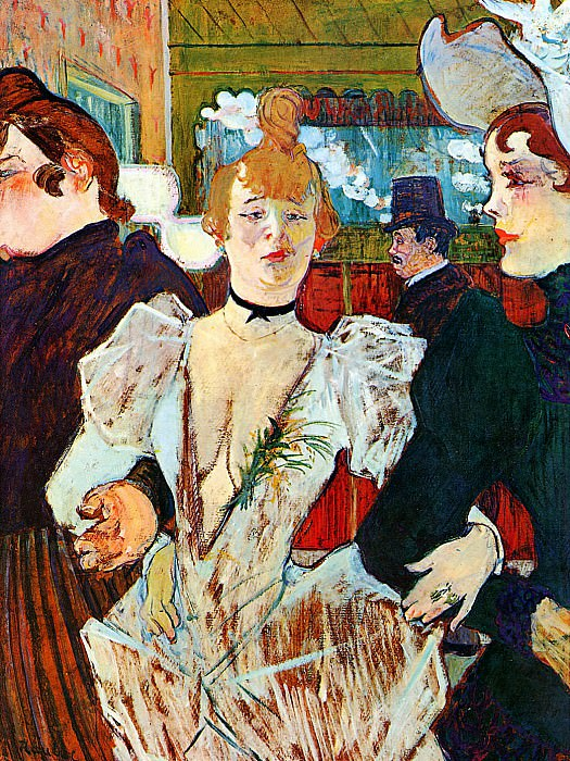 Toulouse-Lautrec de Henri Entering Moulin Rouge Sun. Henri De Toulouse-Lautrec