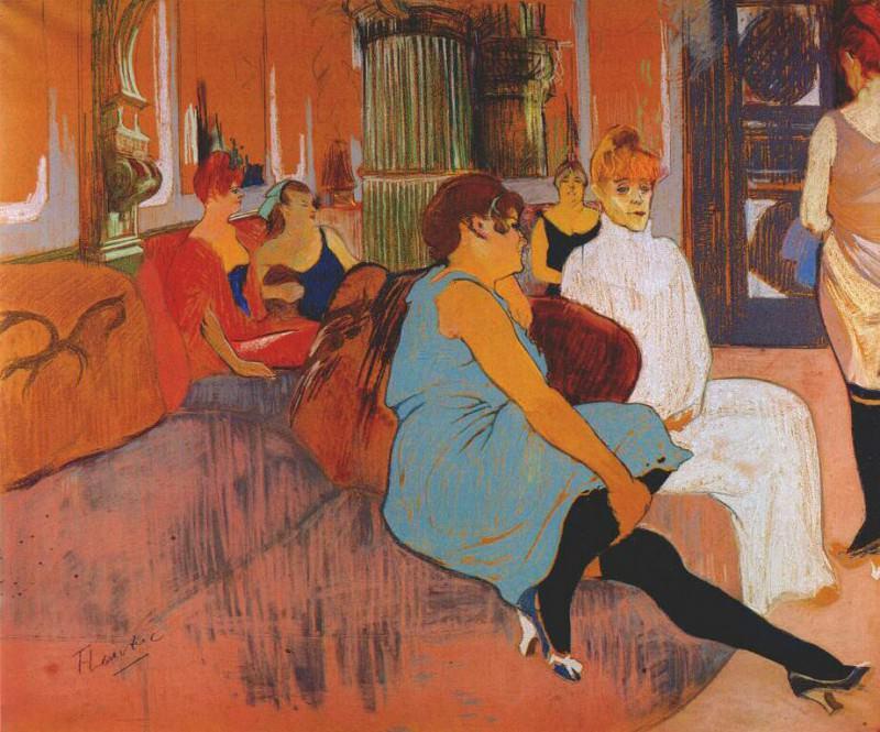 lautrec in the salon of the rue des moulins c1894. Henri De Toulouse-Lautrec