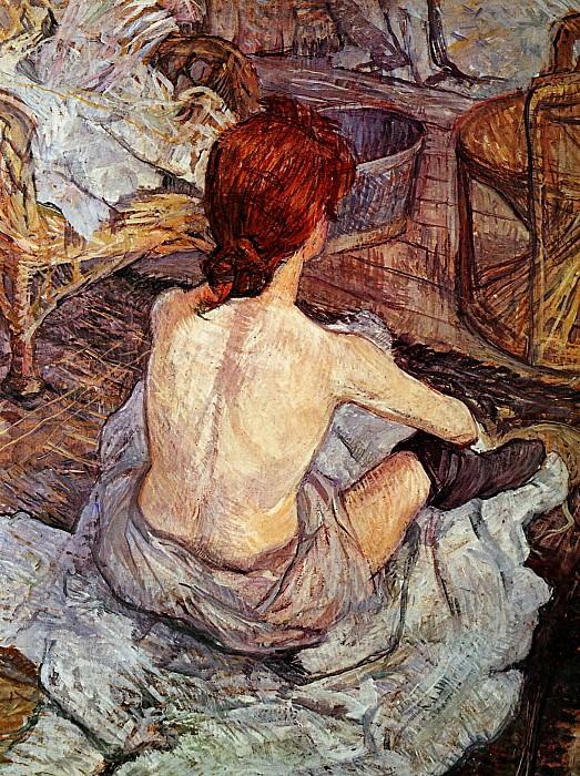 Toulouse-Lautrec de Henri After bathing Sun. Henri De Toulouse-Lautrec