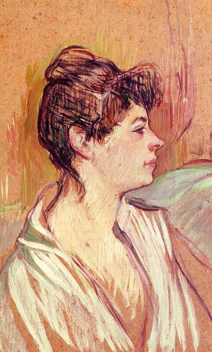 Portrait of Marcelle, 1893-94, oil on cardb. Henri De Toulouse-Lautrec