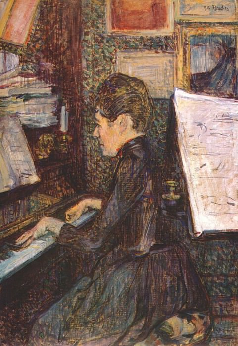 lautrec mlle marie dihau at the piano 1890. Анри де Тулуз-Лотрек