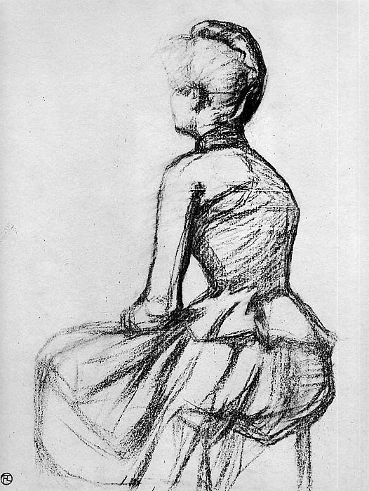 Toulouse-Lautrec de Henri Sitting woman Sun. Henri De Toulouse-Lautrec