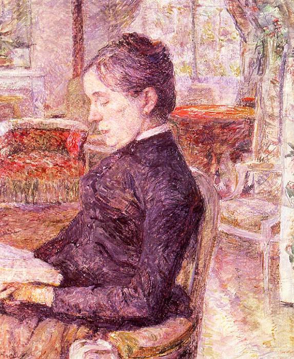 Toulouse-Lautrec The Reading Room at the Chateau de Malrome,. Henri De Toulouse-Lautrec