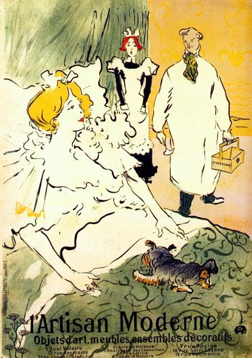 lautrec lartisan moderne (poster) 1894. Henri De Toulouse-Lautrec