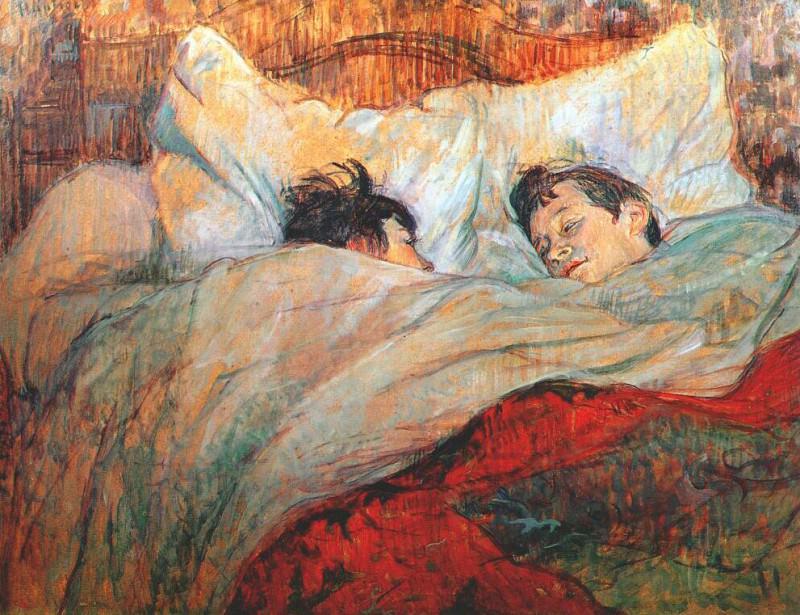 lautrec in bed 1893. Henri De Toulouse-Lautrec