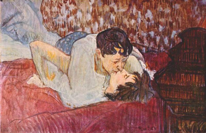 lautrec the kiss 1892. Анри де Тулуз-Лотрек