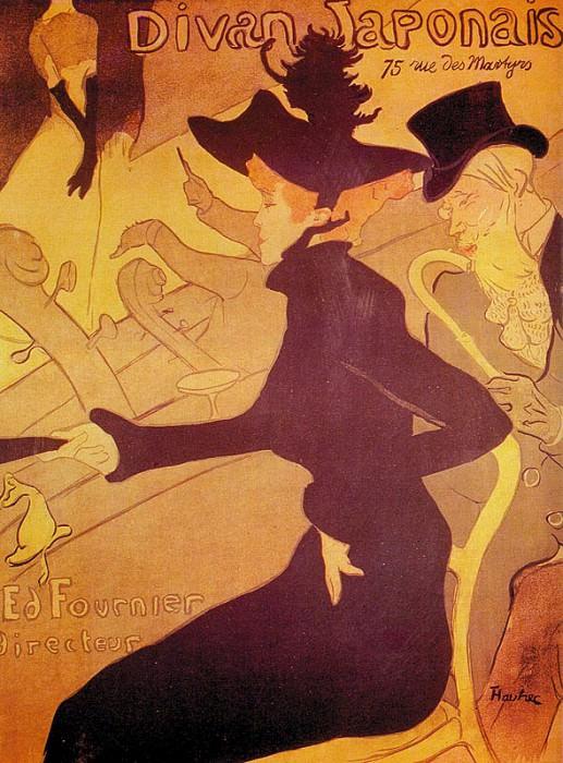 Toulouse-Lautrec Le Divan Japonais, 1893, chalk lithography,. Henri De Toulouse-Lautrec