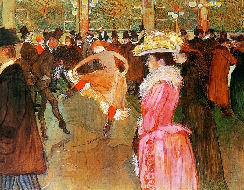 Toulouse-Lautrec de Henri Dance in the moulin rouge Sun. Henri De Toulouse-Lautrec