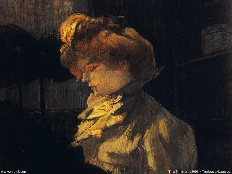 1900 - Henri Toulouse Lautrec - The milliner. Henri De Toulouse-Lautrec