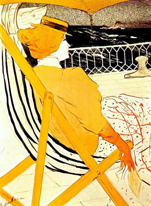 lautrec the passenger in cabin 54 1896. Henri De Toulouse-Lautrec