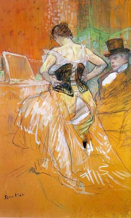 Toulouse-Lautrec Study for Elles (Woman in a Corset), 1896. Henri De Toulouse-Lautrec