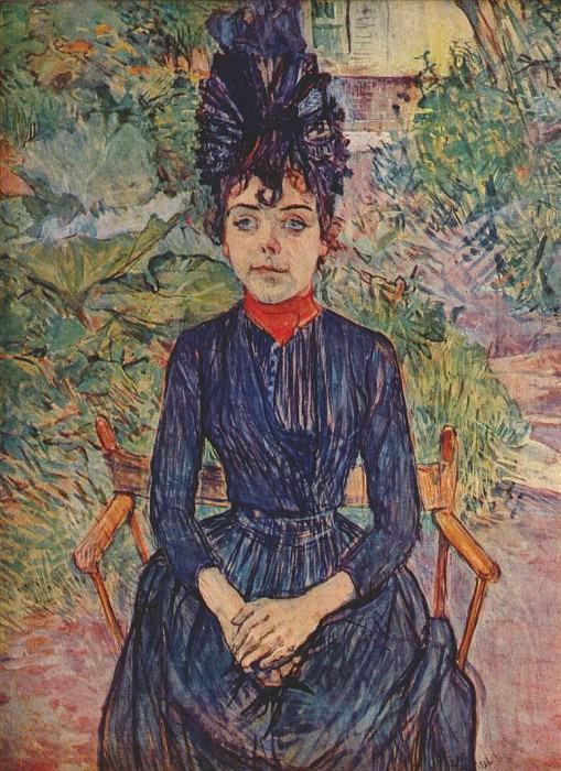 lautrec justine dieuhl c1890. Henri De Toulouse-Lautrec
