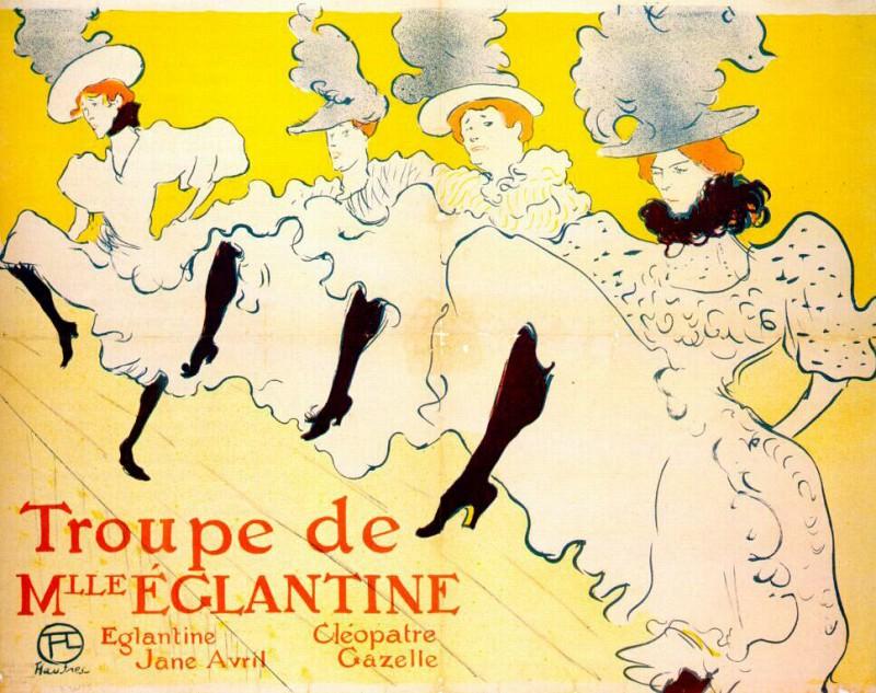 lautrec la troupe de mlle eglantine (poster) 1895-6. Henri De Toulouse-Lautrec