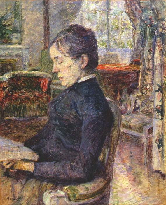 lautrec comtesse adele de toulouse-lautrec in the salon at malrome 1887. Henri De Toulouse-Lautrec