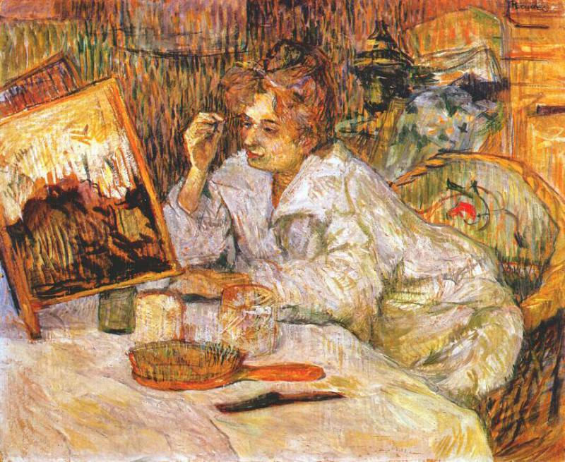 lautrec woman at her toilette 1889. Henri De Toulouse-Lautrec