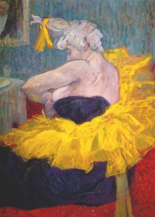 lautrec the clownesse cha-u-kao at the moulin rouge ii 1895. Henri De Toulouse-Lautrec