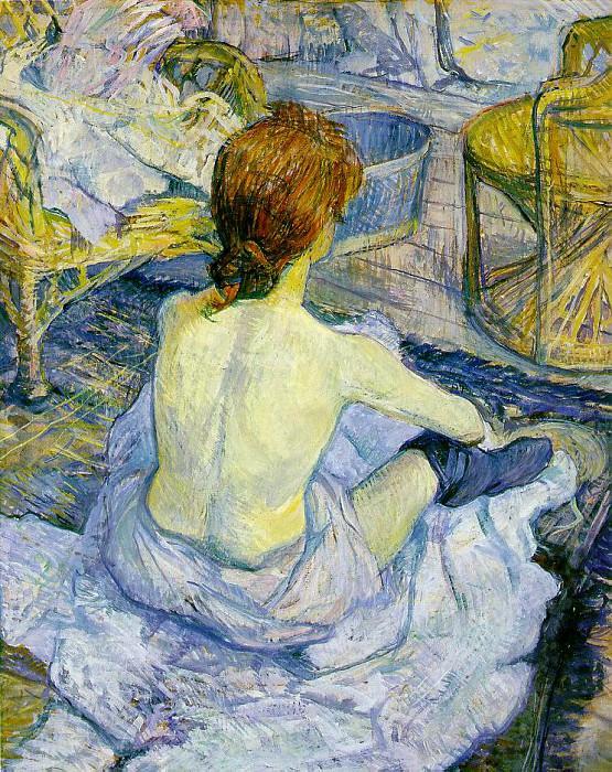 Toulouse-Lautrec The toilette, 1896, 67x54 cm, Musee DOrsay. Henri De Toulouse-Lautrec