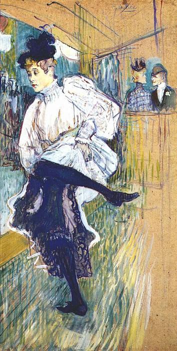 lautrec jane avril dancing 1892. Henri De Toulouse-Lautrec