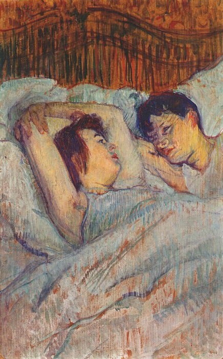 lautrec in bed 1892. Henri De Toulouse-Lautrec