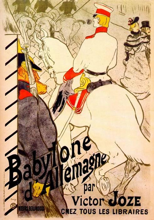 lautrec babylone dallemagne (poster for the german babylon) 1894. Анри де Тулуз-Лотрек