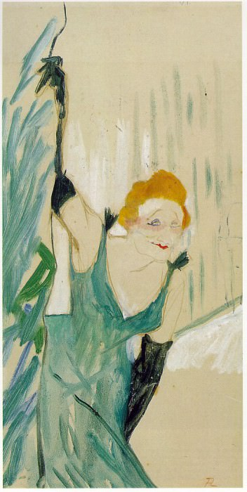 Toulouse-Lautrec Yvette Guilbert Greeting the Audience, 1894. Henri De Toulouse-Lautrec