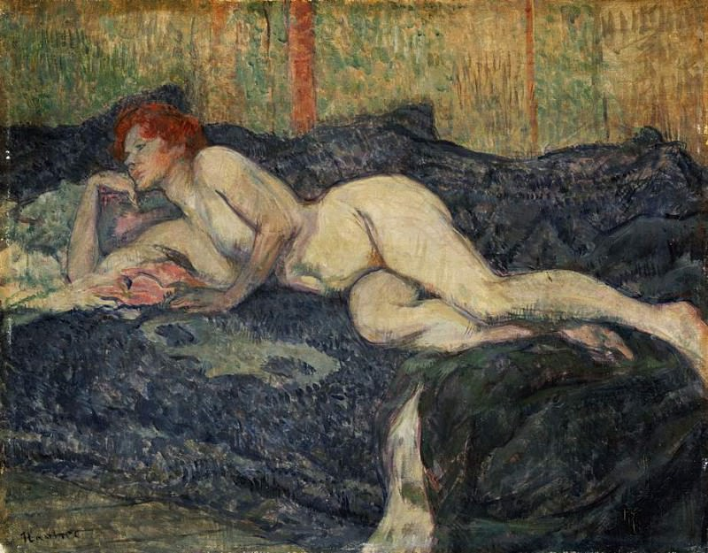 Toulouse-Lautrec Reclining nude, 1897, Barnes foundation. Анри де Тулуз-Лотрек