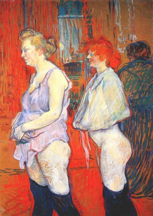 lautrec rue des moulins, the medical inspection 1894. Анри де Тулуз-Лотрек