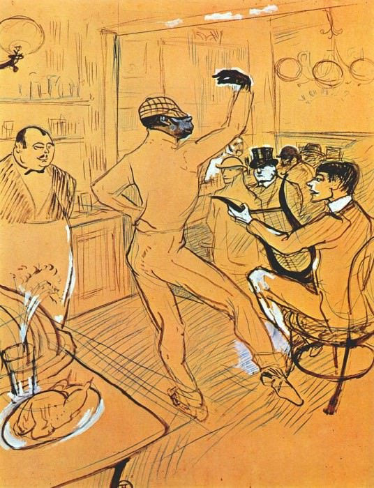 lautrec chocolat dancing in the irish american bar 1896. Henri De Toulouse-Lautrec